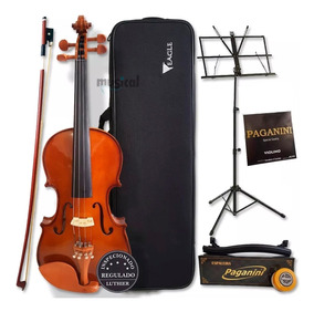 Kit Violino Eagle 4/4 Ve441 + Estante Partitura+espaleira+