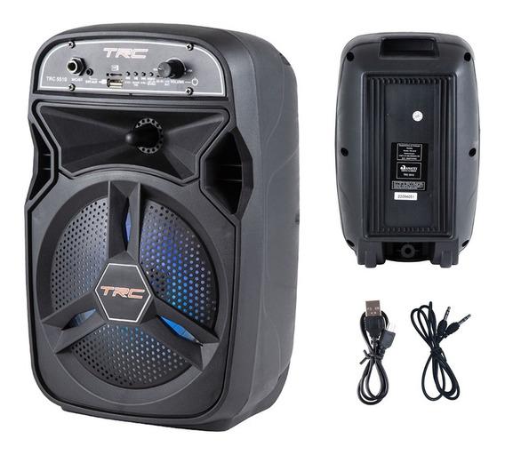 Caixa De Som Amplificada Portátil Bluetooth 100w Trc5510 Biv