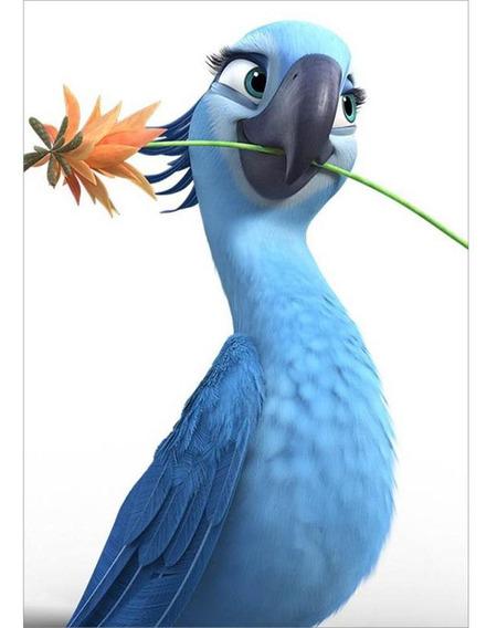 5d Diy Full Drill Diamond Pintura Azul Papagaio Ponto Cruz