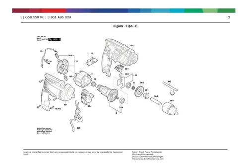 Peças Furadeira Gsb 550 Re Bosch 11b6.0 *leia A Descrição*