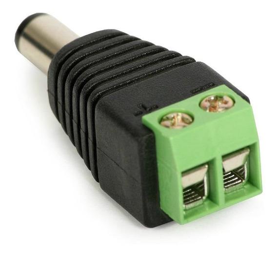 Kit 100 Conector P4 Macho Alimentação Camera Cftv Segurança