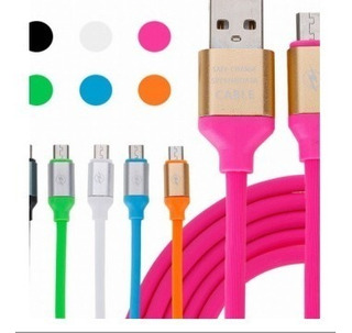 6 Cable Samsung Xiaomi Micro Usb Carga Rapida Goma Celular