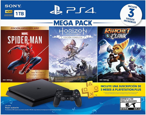 Consola Playstation 4 Slim De 1tb 3 Juegos Plus 3 Meses Ps4