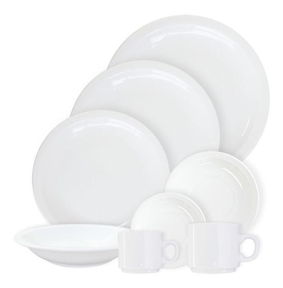 Set Vajilla 24 Piezas | Porcelana Blanca Tsuji De Primera
