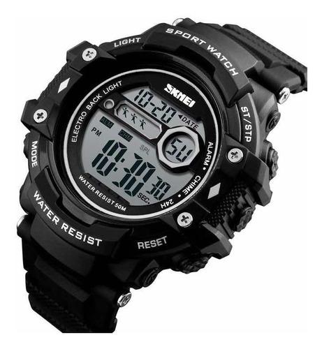 Relógio Esportivo Digital Original Shock Militar Calendário