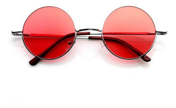 Óculos De Sol Hippie - Redondo- Lente Colorida