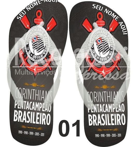 Sandálias Corinthians Personalizadas Com Seu Nome