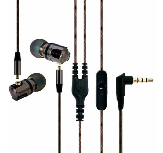 Fone In Ear Super Luxo Hi Fi Bass Profissional Cabo Removív
