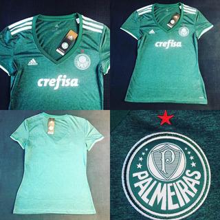 Camisa Palmeiras 2018 Feminina Tam P (66x42) M (67x45)