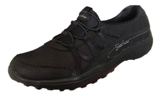 Tenis Skechers Mujer 23267/blk Be Light Well To Do Negro