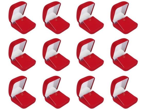 Caixinha Veludo Vermelha Para Colar Pingente Brinco Atacado