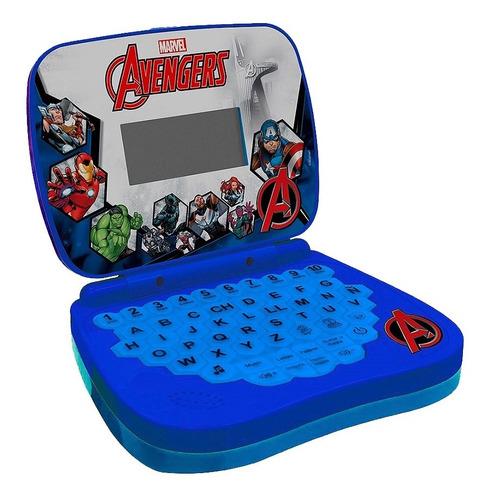 Laptop Infantil Para Crianças Avengers Azul Bilíngue Candide