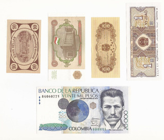 4 Billetes China Rusia Alemania Diminutos Gemas Uncirculated