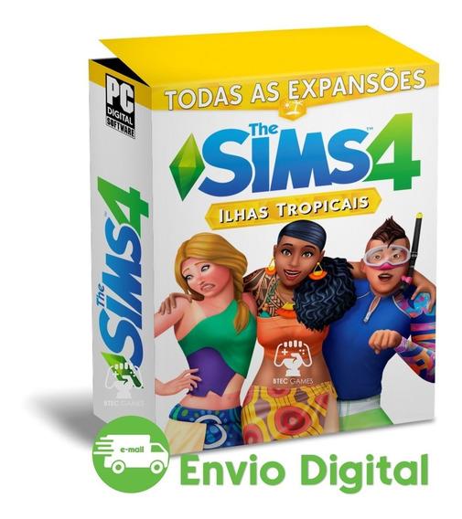 The Sims 4 Todas Expansões Ilhas Tropicais Incluso Completo