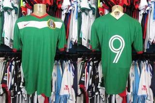 México 2006 Camisa Titular Tamanho G Número 9.
