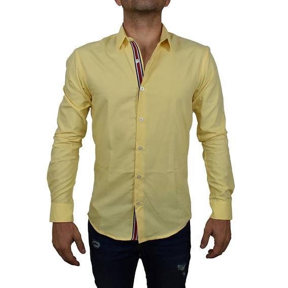 Camisa Amarilla Para Hombre