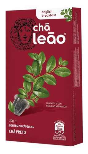 Chá Leão Capsula - English Breakfast 10 Unid.