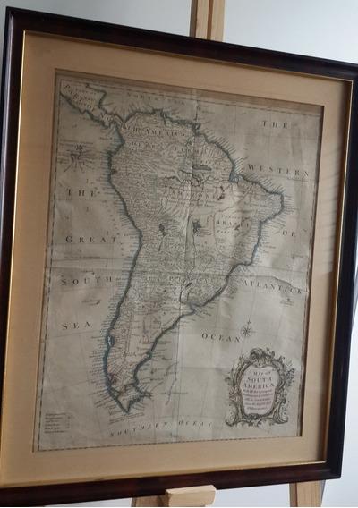 1740 Mapa Antiguo América Del Sur Argentina Camino Del Inca