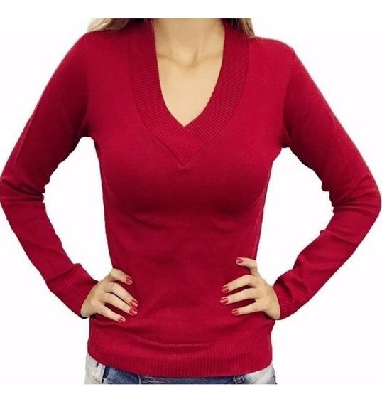 Blusa De Frio Decote V Casaco Cardigan Suéter Lã Tricot