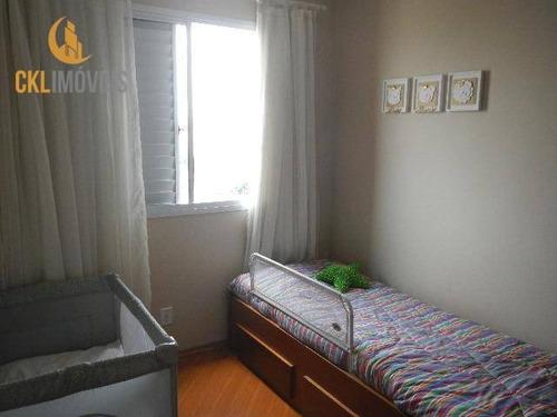 Imagem 1 de 18 de Apartamento Com 3 Dormitórios À Venda, 62 M² Por R$ 373.000,00 - Cursino - São Paulo/sp - Ap1115