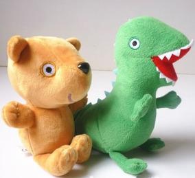 Dinossauro + Ted George Peppa Pig Pelúcia Pronta Entrega 085