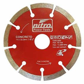Disco Diamantado 4.1/2 Corte Segmentado Concreto Nitro