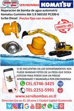 Reparación De Bomba De Agua Automotriz Komatsu 6d102 Guatema