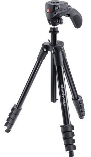 Tripé Manfrotto Compact Action Black Mkcompactacn-bk 1,55 M