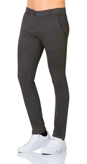 Pantalon Furor Gabardina Chino Cooper Slim En 3 Colores