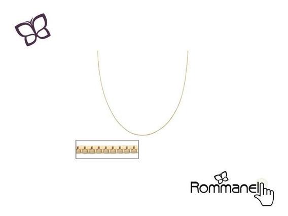 Corrente Fio Veneziano Folheada Ouro Rommanel 531314