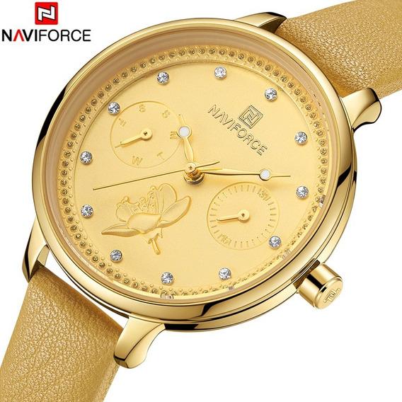 Relógio Feminino Naviforce Original Lançamento C/ Caixa
