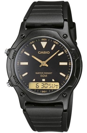 Relógio Masculino Casio Anadigi - Aw-49he-1avdf O Relógio