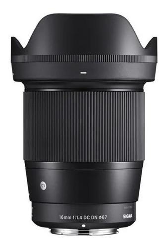 Imagem 1 de 9 de Lente Sigma 16mm F/1.4 Dc Dn Contemporary Pronta Entrega