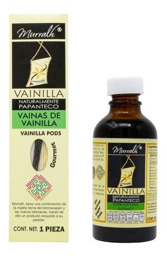 Imagen 1 de 4 de Vainas De Vainilla 1 Pieza Y Extracto De Vainilla 50 Ml Pack