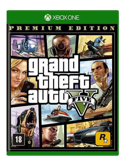 Gta 5 Gta V Xbox One Premium Edition Lacrado Mídia Física