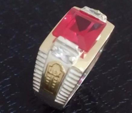 Anel De Formatura Em Prata 950 Com Os Símbolos Em Ouro 18k