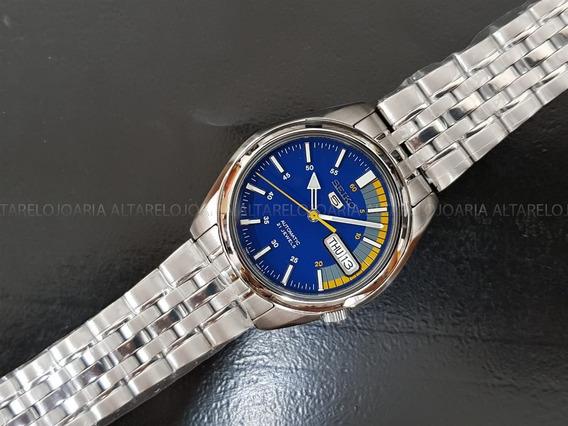 Relógio Masculino Seiko Automatico Snk371k1 Aço Inox Fundo