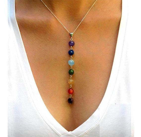 Collar Cuarzo 7 Chakras Meditacion Reiki Yoga Envio Gratis