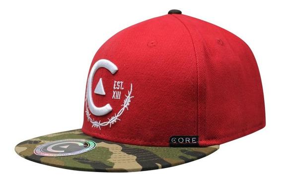 Gorra Snapback Core Camu Rojo