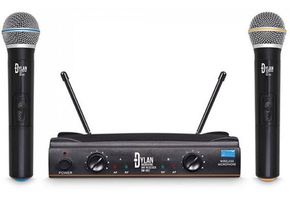 Microfone Dylan Dw-602 Uhf S/fio Profissional Duplo Mão