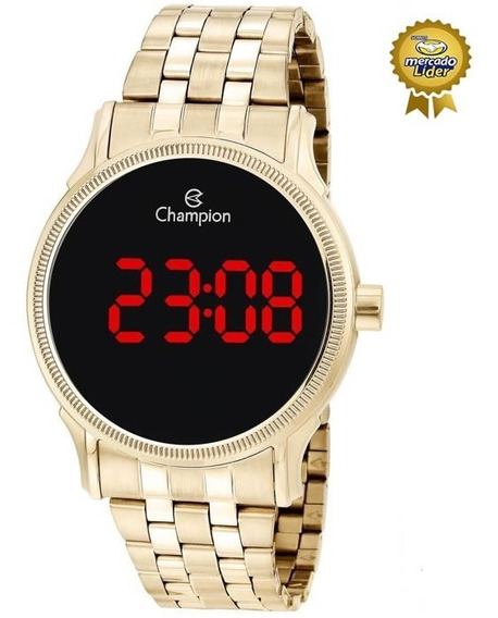 Relógio Champion Feminino Led Ch40204h Digital Vermelho