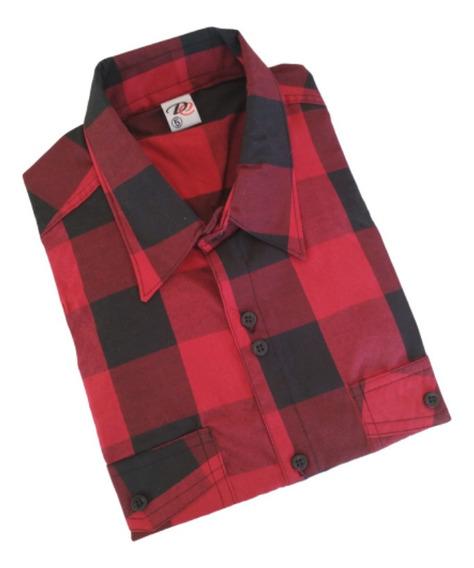 Kit C/3 Camisas Xadrez Manga Curta Tamanho Grande