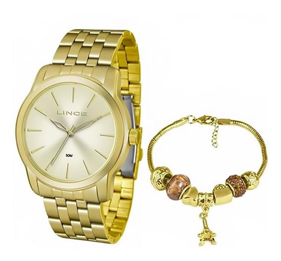 Relógio Feminino Lince Kit Pulseira Lrg4551l Ku88c1kx