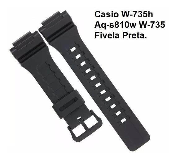 Pulseira P/ Casio W-735h Aq-s810w W-736 Aeq-110bw Frete Grát