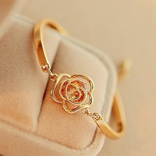 Bracelete Feminino Barato Dourado Pulseira *envio Imediato*