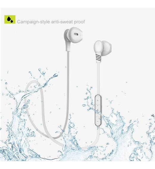 Fone De Ouvido Bluetooth Ímã Esportes Estéreo Com Mic