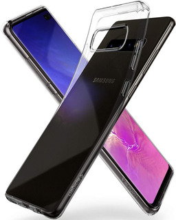 Case Original Spigen Liquid Crystal Premium Para Galaxy S10+