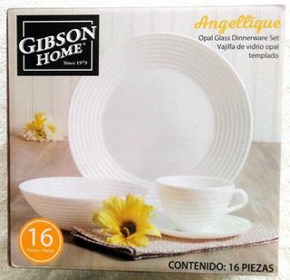 Vajilla Gibson Home Angellique 16 Piezas