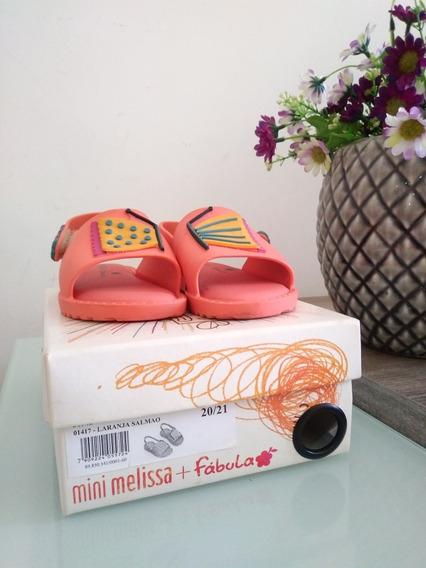 Lote 3 Par Mini Melissa + Fábula, Mini Melissa Laço E Nike