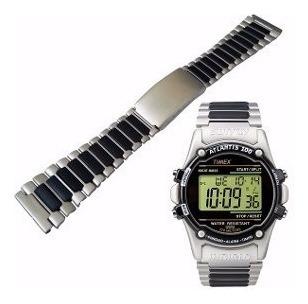Pulseira P/ Relógio Aço Pvc Timex Ironman 22mm